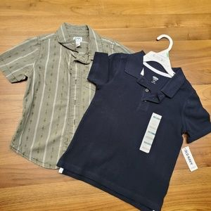 4T Polo style + button up Old Navy shirt set